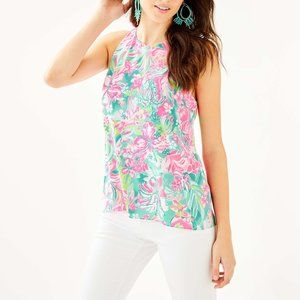 Lilly Pulitzer Short Sleeve Lyle Halter Top